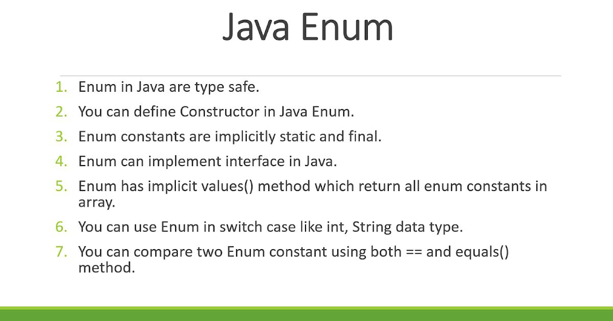 A Practical Example Of Enum In Java Java67