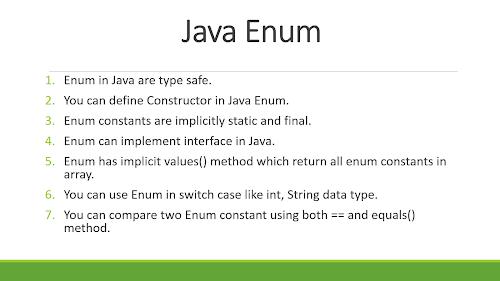 Best Example of Enum in Java