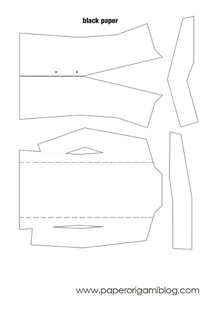 Tuxedo origami pattern 2