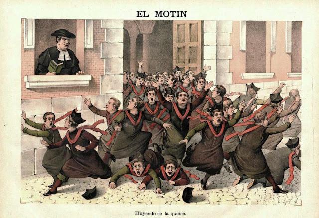 Caricatura publicada en El Motín (1-4-1888)