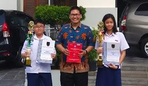 Aristo Juara 1 OSK Matematika dan Chaterine Juara 1 OSK IPS