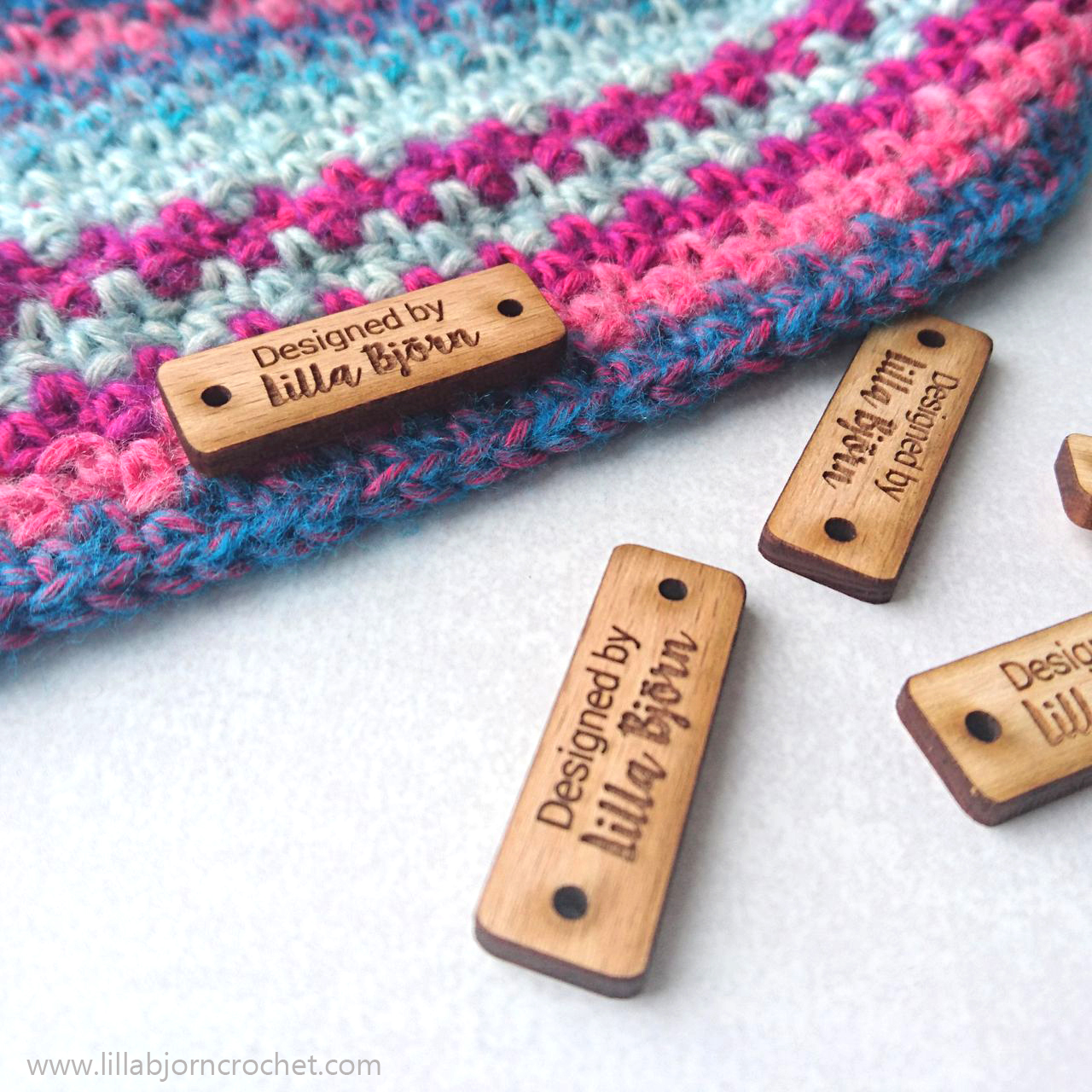 Wooden craft labels/tags - designed by Lilla Bjorn