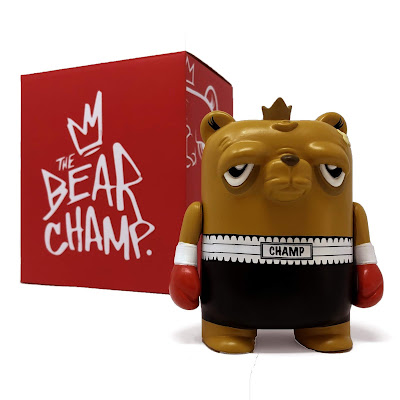 "Galerie F Exclusive The Bearchamp TKO Edition 4"" Vinyl Figure by JC Rivera x UVD Toys"