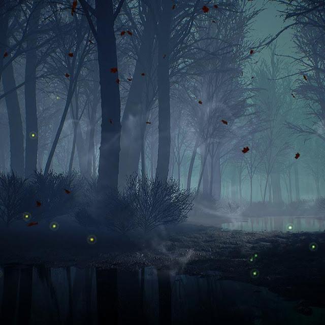 Dark Autumn Forest Wallpaper Engine