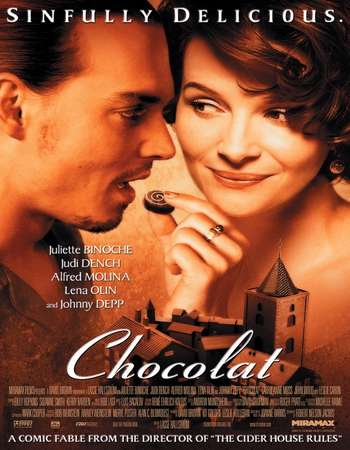 Poster Of Chocolat 2000 English 350MB BRRip 480p ESubs Watch Online Free Download Worldfree4u