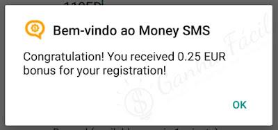 money sms app bónus euro euros dinheiro ganhar ganha