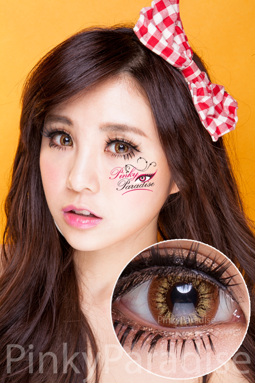 Princess Pinky Radiance Brown Circle Lenses (Colored Contacts)
