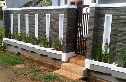 30 Model Pagar Tembok Minimalis Samping Rumah Versi Terbaru! - Desain Rumah