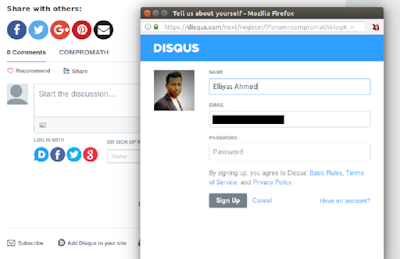 Log in with Facebook, Twitter, Google in Disqus