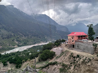 view of sangla valley in himachal pradesh