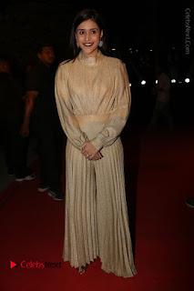 Actress Mannara Chopra Stills in Cream Colour Long Dress at Gemini TV Puraskaralu 2016 Event  0066.JPG
