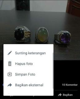 Langkah terakhir mengcompress foto melalui Facebook