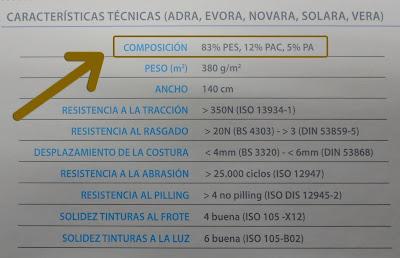 Tapicería Carrasco Asturias - Descripción de Tejido