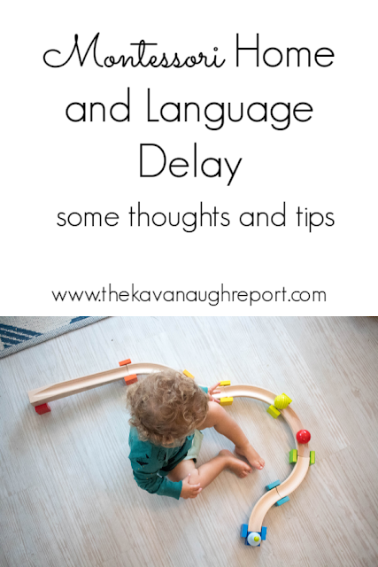 Thoughts on dealing with a language delay in our Montessori home.