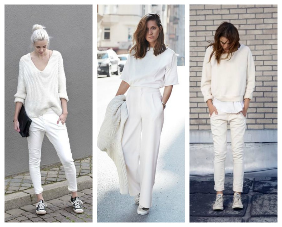 total white street style