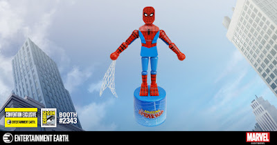 San Diego Comic-Con 2017 Exclusive Spider-Man Marvel Wood Push Puppet by Entertainment Earth
