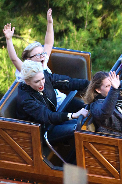 Gwen Stefani with her sons at Disneyland
