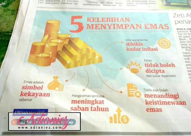 5 kelebihan menyimpan emas