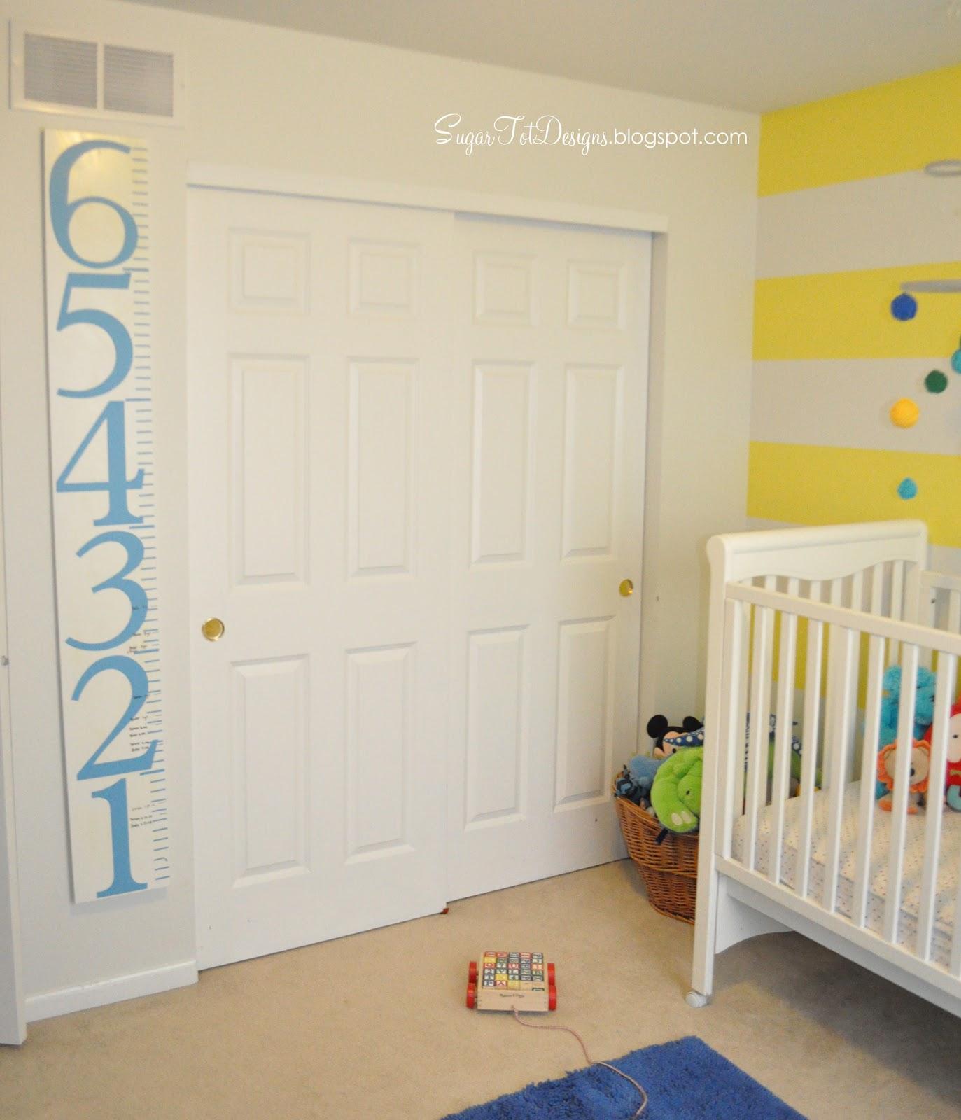 Sugartotdesigns: Yellow Striped Nursery ***UPDATE