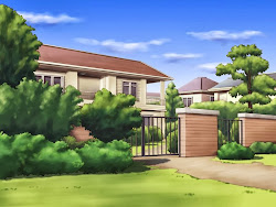 anime background landscape building animebackground