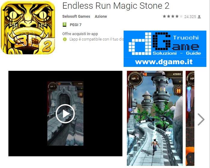 Trucchi Endless Run Magic Stone 2 Mod Apk Android v2.0