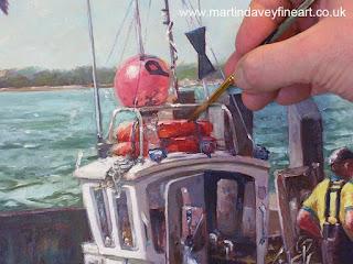 martin Davey WIP marine boat at quay Dorset