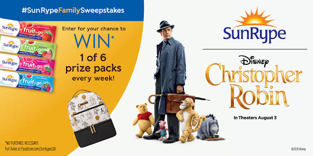 #SunRypeFamilySweepstakes July 30 – August 24 #ChristopherRobin