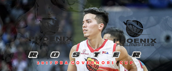 List of Phoenix Fuelmasters Roster 2017 PBA Governors' Cup