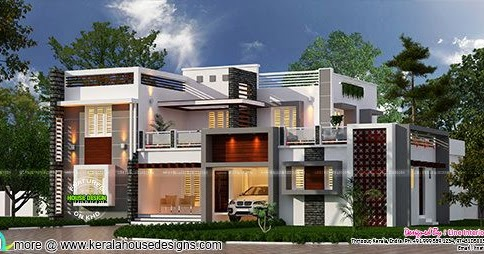 Kerala Home Design And Floor Plans 3815 Square Feet 4
