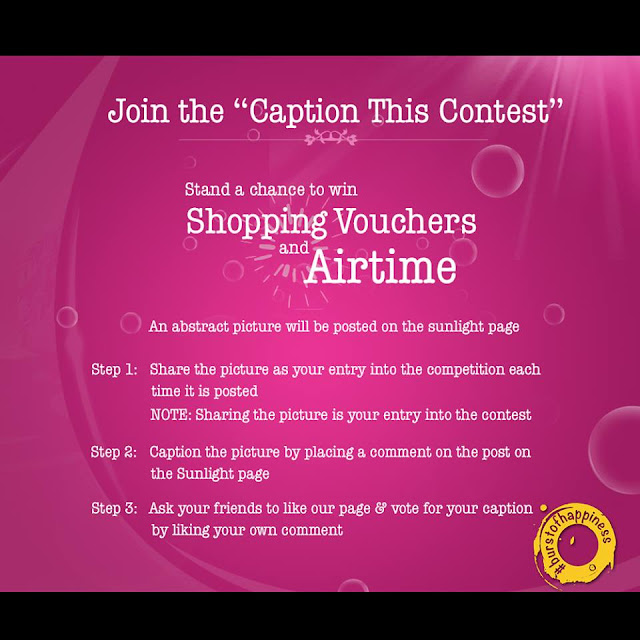 """Sunlight Happiness """"Caption This"""" Contest. Shopping Voucher and Airtime to be won."""