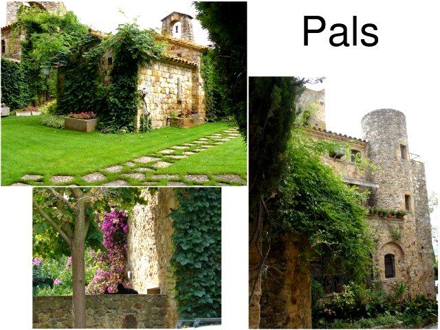 ciudad medieval de pals en la costa brava torre de las horas