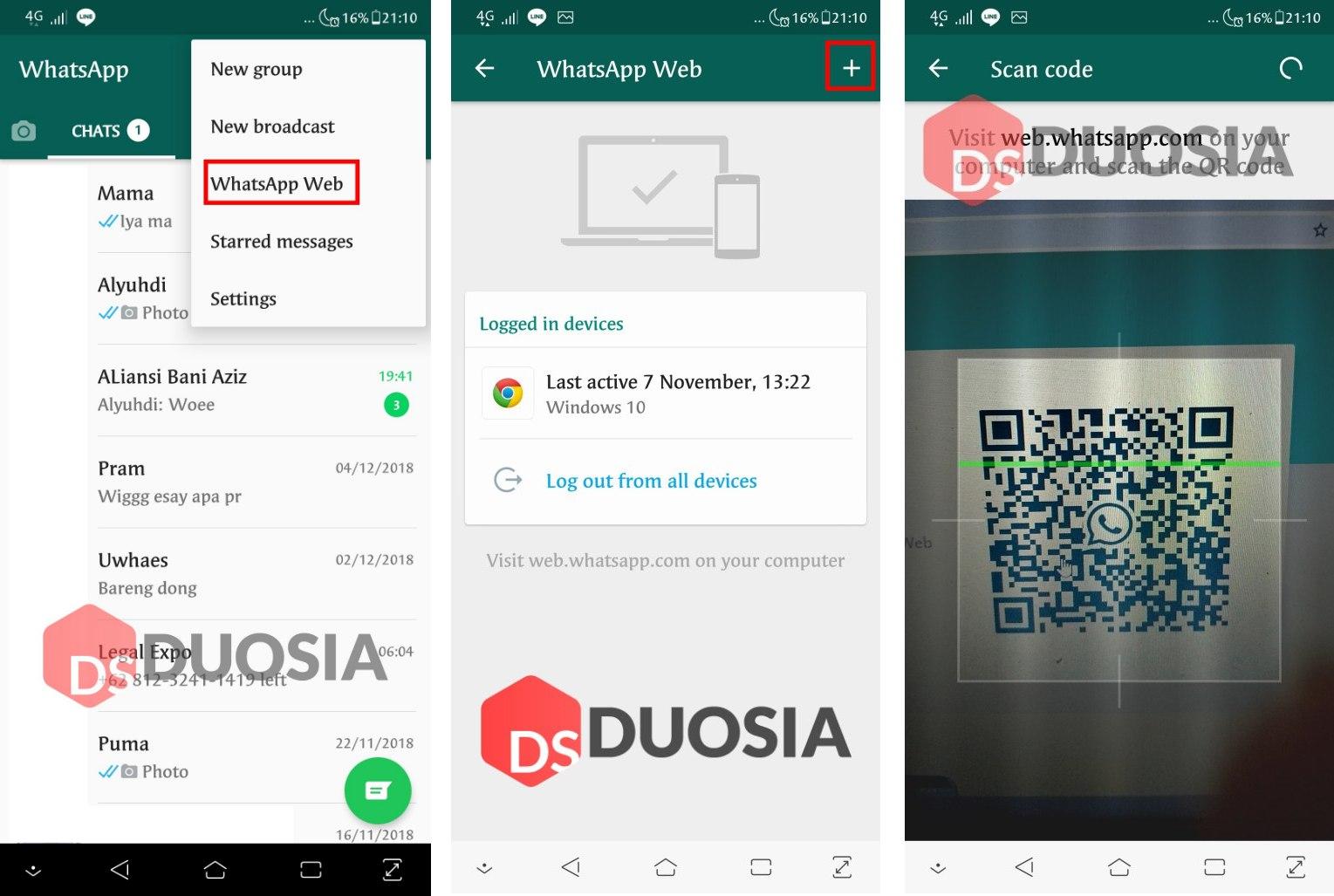 cara download whatsapp via web