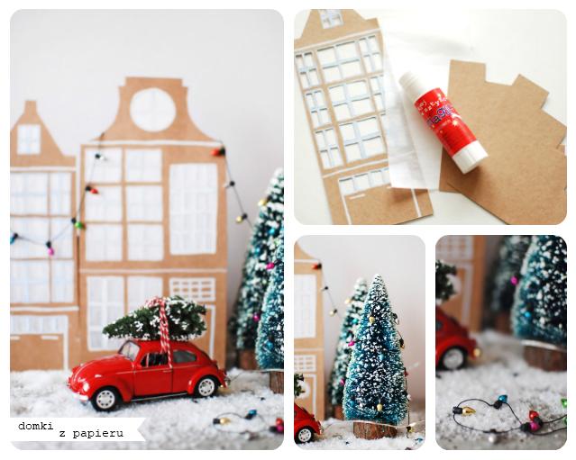 DIY – laterenki z papieru w kształcie domków