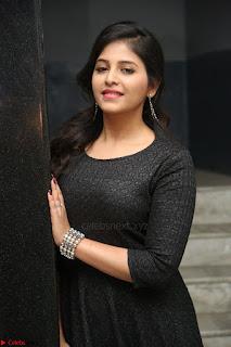Anjali in Black Short Dress at Chitrangada Movie Success Meet ~  023.JPG