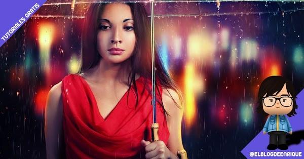 Tutorial Photoshop: Como añadir drama a una escena lluviosa por Jenny Le