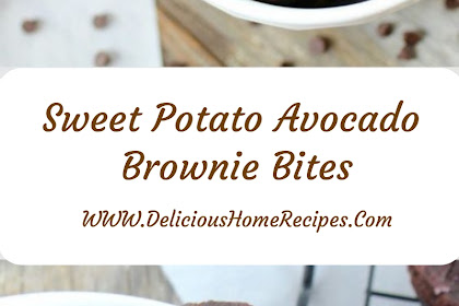 Sweet Potato Avocado Brownie Bites #christmas #dessert