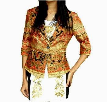 Model baju batik kantor, batik blazer wanita
