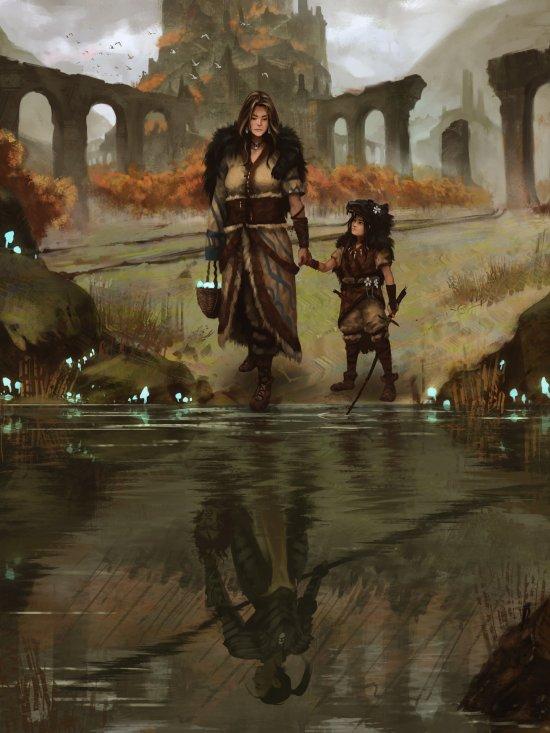 Manuel Castañón artstation deviantart ilustrações fantasia games sombrio arte conceitual