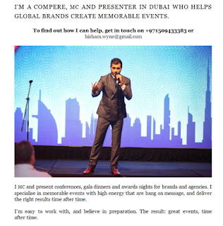 leading MC and presenter in Dubai