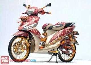 Foto Modifikasi Motor Mio J Terbaru 2013