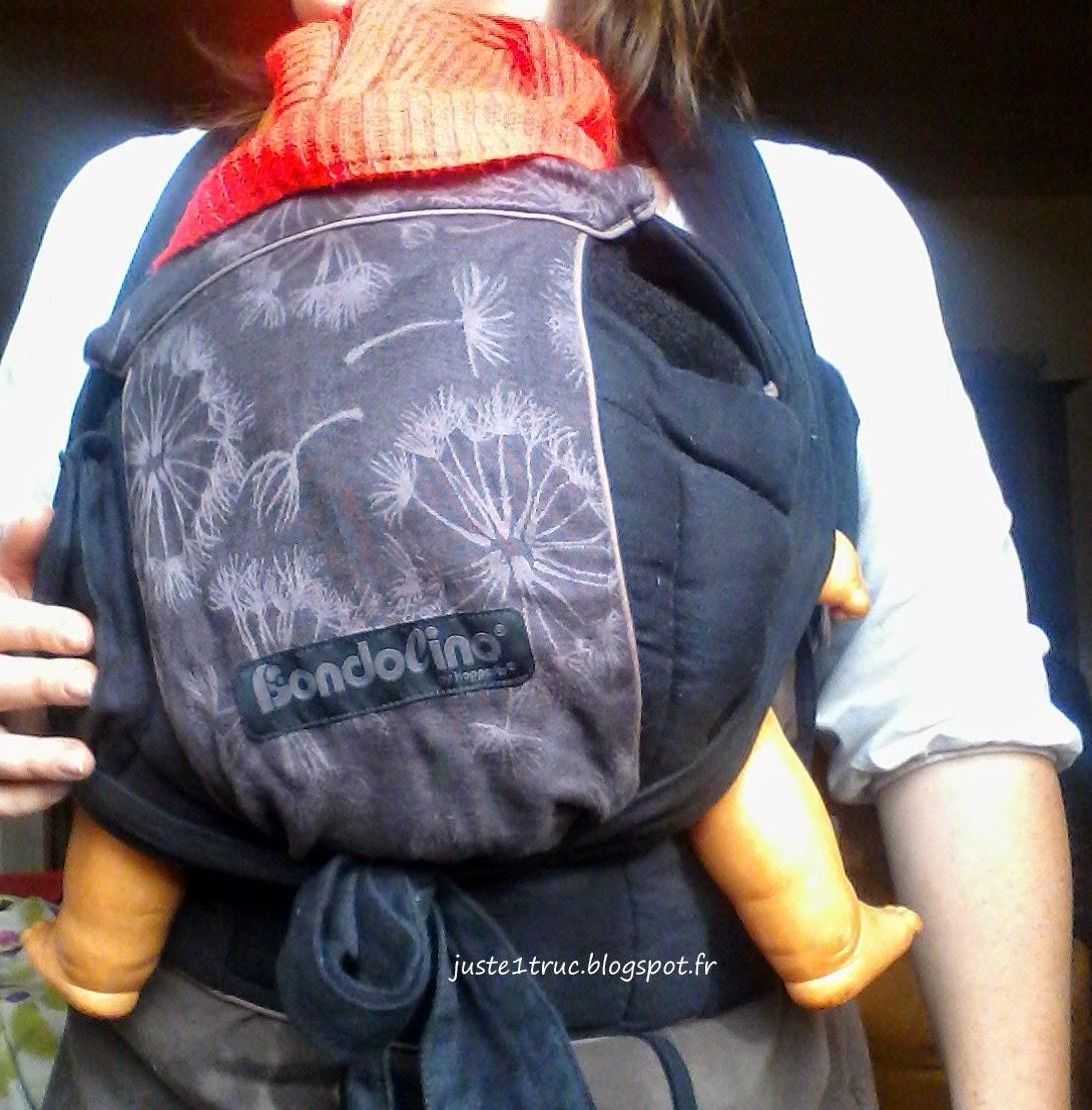 portage bondolino porte-bébé préformé hybride Hoppediz halfbuckle babywearing