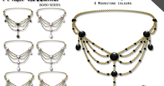 Midnight Moonstone Necklace and Matching Earrings