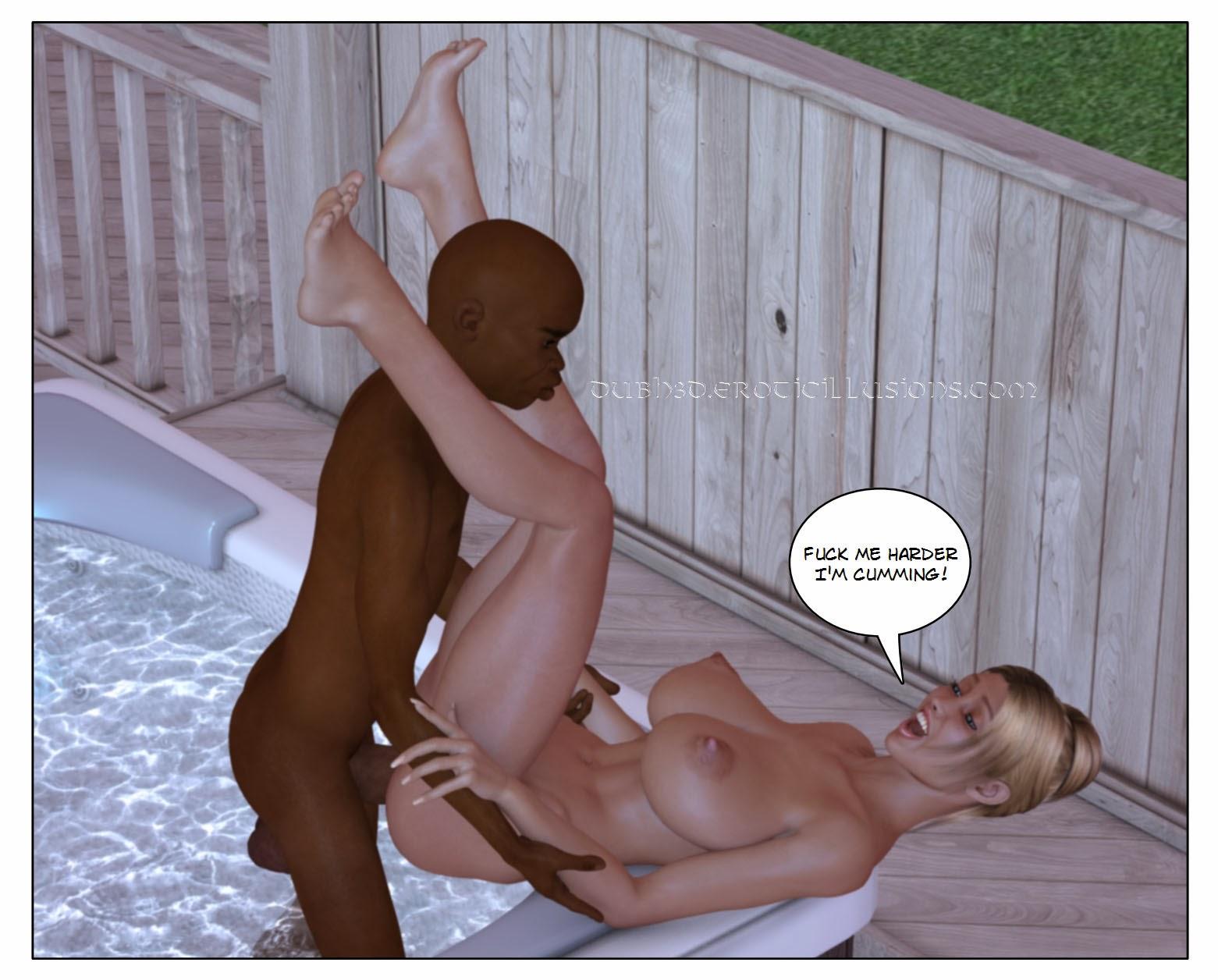 Midget interracial gangbang