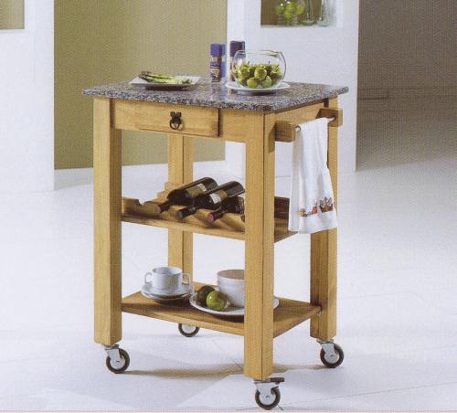 mesa de madera y mrmol mueble de cocina con estantes mueble reciclado para cocina mesa auxiliar