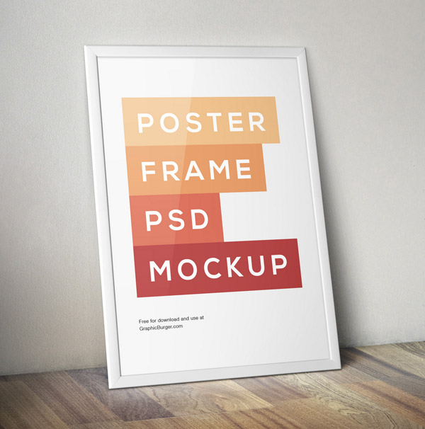 Poster Frame PSD MockUp by GraphicBurger