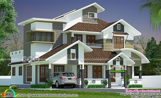 2613 square feet 4 bedroom modern mixed roof contemporary home