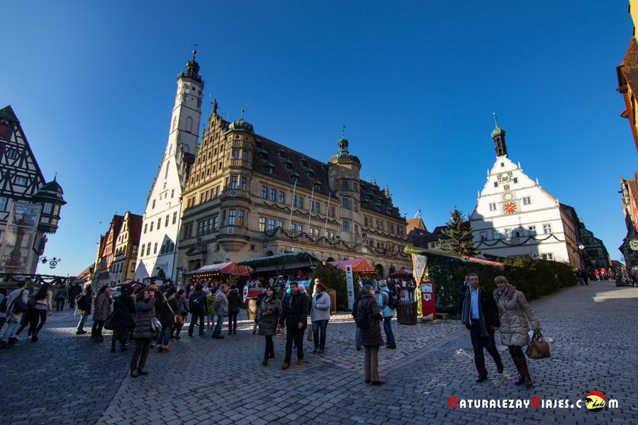 Plaza del Mercado (Marktplatz) en Rothenburg ob der Tauber