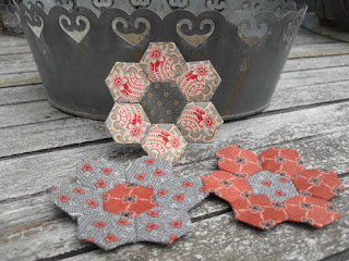 hexagones, patchwork, défi 2016