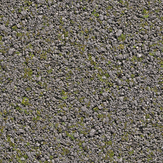 Seamless asphalt road texture or concrete with green moss texture 2048 x 2048