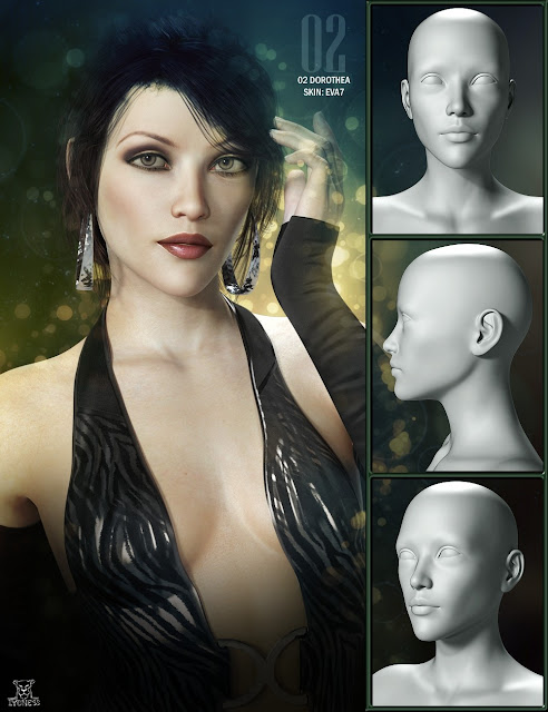 LY Romantic Girls HD Bodies and Faces for Genesis 3 Female